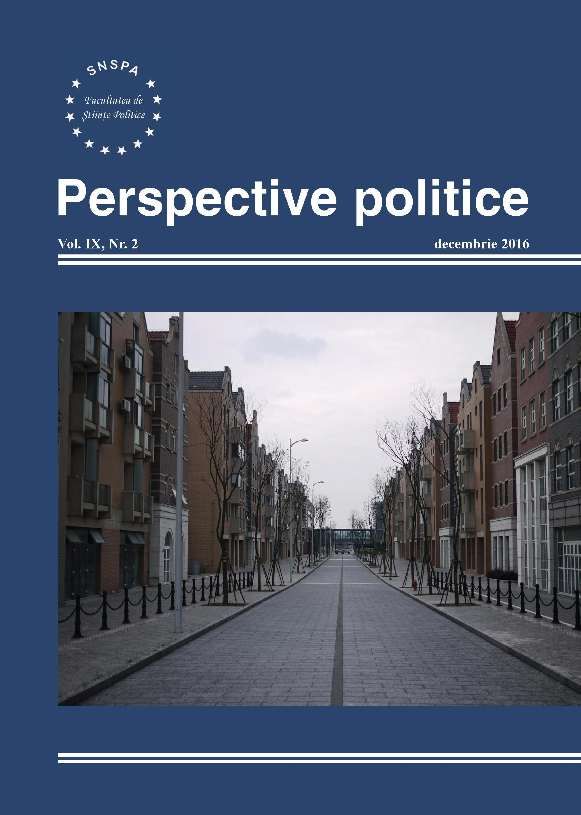 View Vol. 9 No. 2 (2016): Perspective Politice