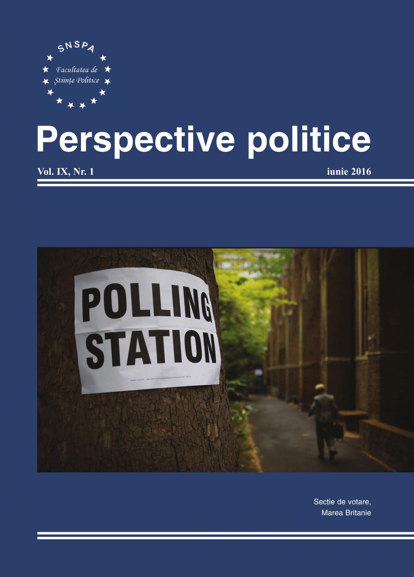 View Vol. 9 No. 1 (2016): Perspective Politice